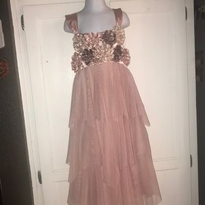 biscotti floral tulle pink dress girl size 12